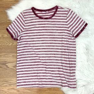 Softspun Velvet-Trim Stripe Crewneck T-Shirt {C}